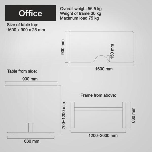 Salli Office mitat