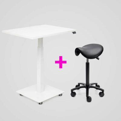 Stoo Desk Single + Roll-Ergonomic satulatuoli