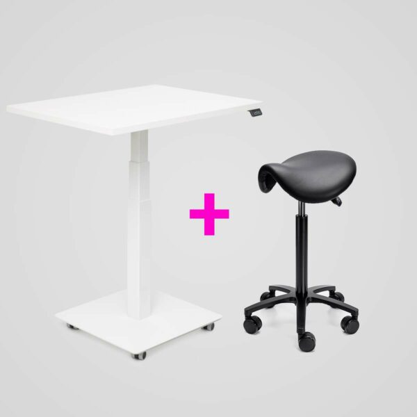 Stoo Desk Single + Roll-Ergonomic satulatuoli