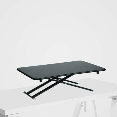 Stoo Desk on Desk Lite -säädettävä työtaso pöydän päälle, musta